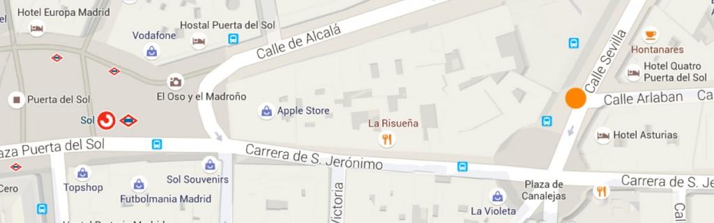 Google Maps - Bus-sol-calle sevilla